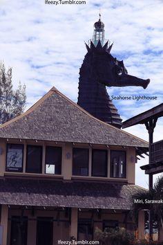 Seahorse Lighthouse In Miri Sarawak, Malaysia
