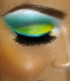 neon green, blue green, beauti, lime, makeup looks, costume makeup, aqua, bright colors, eye