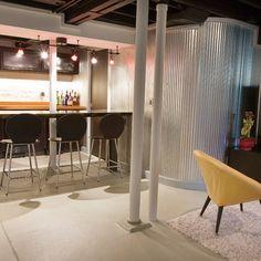 Diy Basement Decor Ideas : Unfinished Basement Ideas Design Ideas, Pictures, Remodel, and Decor