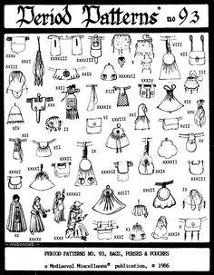 pouch, bag purs, doll pattern, medievalrenaiss bag, bag patterns