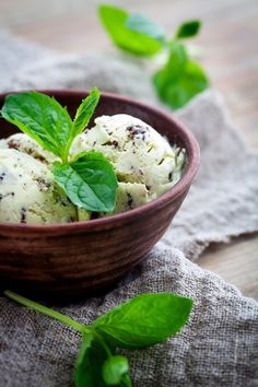 Fresh Mint Chip Ice Cream (real mint, no extract)