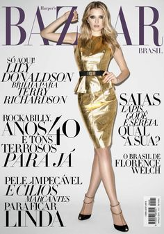 MODEL - LILY DONALDSON |  HARPER'S BAZAAR BRAZIL MARCH,2012  COVER . PHOTOGRAPHED BY TERRY RICHARDSON .