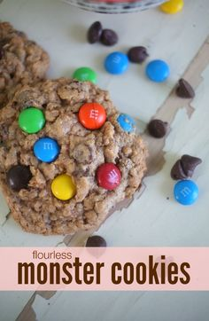 {Flourless} Monster Cookies