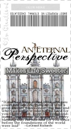 Eternal Perspective Candy Wrapper | Mormon Share