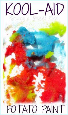 Kool-Aid potato paint