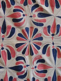 layered cotton kantha