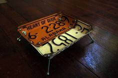 #license plate bowl