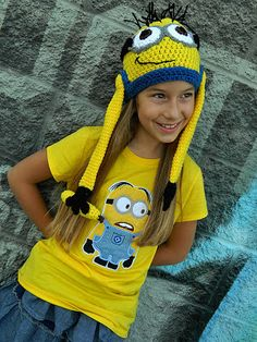 Dave the Minion Crochet Hat