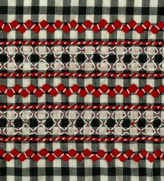 Gingham with Rick Rack and chicken scratch