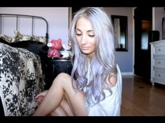 whoa. Pastel Silver/Purple Ombre Hair Tutorial