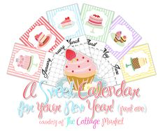 The Cottage Market: A Sweet Calender Printable for your HAPPY NEW YEAR!