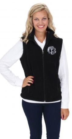 Fleece Monogram Vest from Marley Lilly