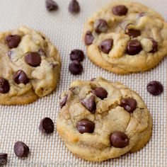 Soft-Baked Chocolate Chip cookies-made these late last night -the cornstarch makes all the difference, so amazing!!!