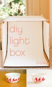 How to make a light box to take better photos of your projects! flax & twine: DIY