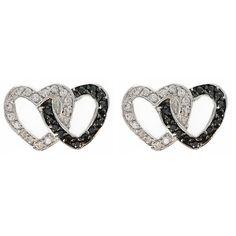 Montana Silversmiths Crystal Double Heart Earrings  #jewelry #heartearrings