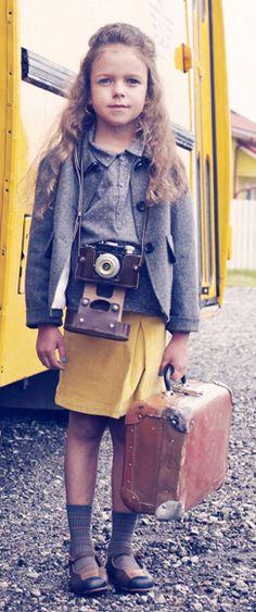 Vintage style world traveler