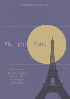 Midnight in Paris by Damien Wake film, minimalist movie posters, movi poster, midnight, pari, classic movies, book covers, book cover design, minimal movie posters