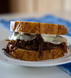 Pot Roast Sandwich via @Angie McGowan (Eclectic Recipes)