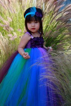 #GB Peacock Inspired Tutu Dress IV by PoshBabyStore.com