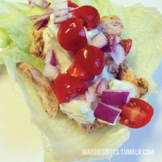 Indian Spiced Chicken Lettuce Wraps