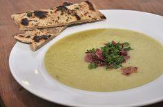 Cauliflower soup with ham