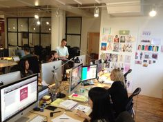 At the NYC office of Paperless Post, a team of seven designers execute the vision of the company co-founder and the creative director. Click through to read the WSJ story on the making of company's Valentine's Day cards.