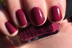 WnW So Berry On Trend Megalast polish #notd Fall Berry