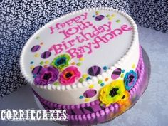 Neon Brights and Zebra Print By Corrie76 on CakeCentral.com