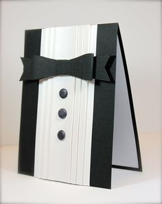 What's Next?: Clean  Simple 2, Day 9 Revisited wedding cards, masculine cards, tuxedo card, suit, scrapbook pages, black tie affair, fathers day cards, cart homm, men's cards