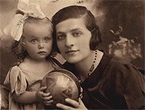Mother and daughter. Romanian Jews murdered at Auschwitz.