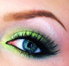 Lime green and black glitter #eyes #eye #makeup