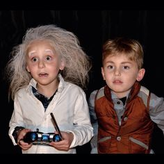 Kids costumes, Doc and Marty McFly #31daysofcostumes back to the future