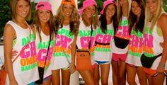alpha xi delta, alpha chi omega, life, greek week, alphachi, neon colors, colleg, tank, bright colors