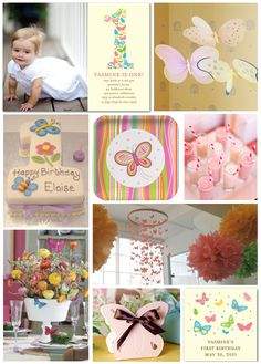 Butterfly Themed First Birthday Party Inspiration Board