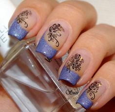 Lavender Tips » I can't make out whether the design is stamping or decal.