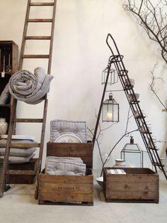 Old #ladders | Display ideas | #Escaleras