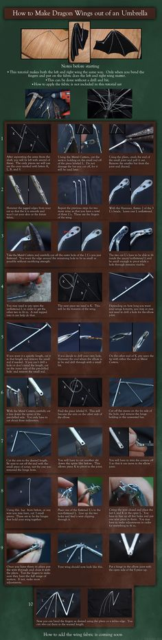 how to make dragon wings from an umbrella