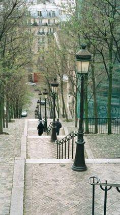Paris, Montmartre steps