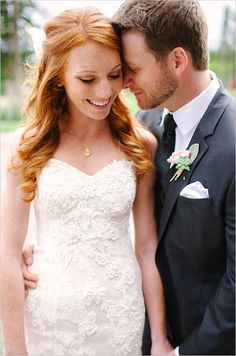Beautiful bride and groom looks. Captured By: Michele Hart Photography ---> http://www.weddingchicks.com/2014/05/29/rain-and-shine-rustic-colorado-wedding/