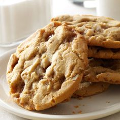 Double Butterscotch Cookies Recipe from Taste of Home -- shared by Beverly Duncan of Lakeville, Ohio