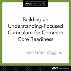 Learn how to write curriculum while ensuring a focus on understanding at this pre-conference institute!