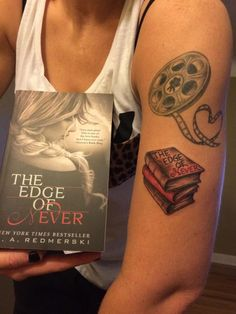 Yet ANOTHER tattoo inspired by THE EDGE OF NEVER - Wow! This one is from Julie Kerchkof! I'm honored, truly. :-)