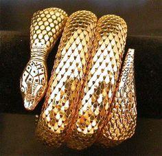 Vintage Whiting and Davis snake bracelet