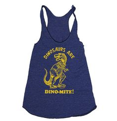 Womens Dinosaurs Are Dinomite TriBlend Racerback Tank by lastearth, $19.00