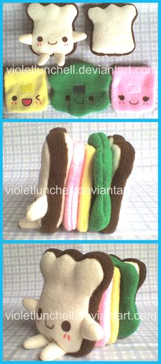 kawaii sandwich chan plushie by VioletLunchell.deviantart.com on @deviantART