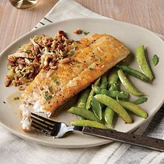 Dinner Tonight: Fish and Shellfish | Browned Butter Flounder with Lemon Snap Peas | CookingLight.com