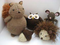 Woodland Animals Knit Pattern, soooooo cute