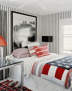 trend: stripes in teen boys' room