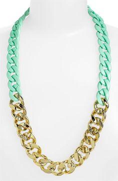 mint + gold. love!