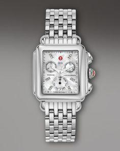 Deco Day Non-Diamond, Diamond Dial Watch by MICHELE at Neiman Marcus.